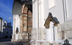 Annunciation εκκλησία στη Μόσχα Κρεμλίνο Η παγκόσμια κληρονομιά της ΟΥΝΕΣΚΟ κάθεται Στοκ εικόνες με δικαίωμα ελεύθερης χρήσης