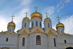 Annunciation εκκλησία της Μόσχας Κρεμλίνο Φωτογραφία χρώματος Στοκ εικόνες με δικαίωμα ελεύθερης χρήσης