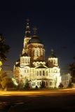 Annunciation καθεδρικός ναός, πόλη Kharkov, νυχτερινή ζωή της Ουκρανίας Στοκ Φωτογραφία
