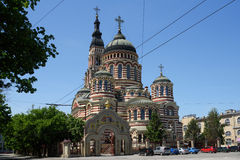 Annunciation καθεδρικός ναός σε Kharkov, Ουκρανία Στοκ Φωτογραφία