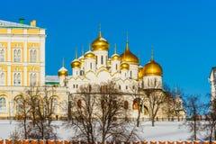 Annunciation καθεδρικός ναός της Μόσχας Κρεμλίνο στη χειμερινή ημέρα Στοκ εικόνα με δικαίωμα ελεύθερης χρήσης