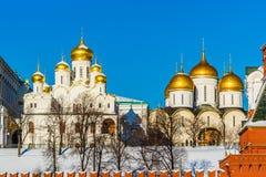 Annunciation και αρχαγγέλων καθεδρικοί ναοί της Μόσχας Κρεμλίνο Στοκ Φωτογραφία