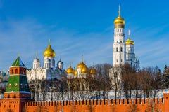 Annunciation και καθεδρικοί ναοί και Ivan αρχαγγέλων το μεγάλο καμπαναριό Στοκ Εικόνα