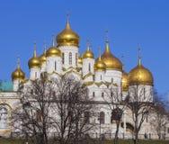 Annunciation και ο καθεδρικός ναός Dormition της Μόσχας Κρεμλίνο Στοκ φωτογραφία με δικαίωμα ελεύθερης χρήσης