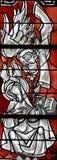 Annunciation στο λεκιασμένο γυαλί Στοκ Εικόνα