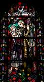 Annunciation στο λεκιασμένο γυαλί Στοκ Φωτογραφίες