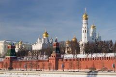 Annunciation, archanioła Ivan i katedry i Wielka dzwonnica Obraz Royalty Free