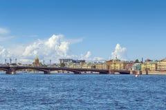 Annunciation Blagoveschensky γέφυρα, Άγιος Πετρούπολη, Ρωσία Στοκ Φωτογραφίες