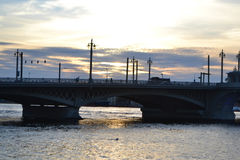 Annunciation Bridge at sunset Stock Images