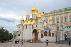 Annunciation Cathedral cloudy September day. The Moscow Kremlin Stock Photos