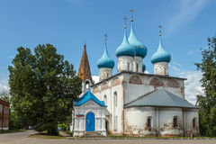 Annunciation Cathedral in Gorokhovets. Vladimir region. Gorokhovets, Vladimir region. A view from Lenin Street on Annunciation Cathedral Royalty Free Stock Photos