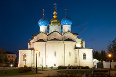 Annunciation Cathedral in the Kazan Kremlin on may night. Kazan. Russia Stock Images
