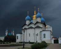 Annunciation Cathedral of the Kazan Kremlin before a storm Stock Image