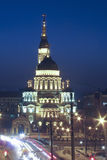 Annunciation Cathedral in Kharkov in the blue hour in winter Stock Image