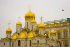 Annunciation cathedral. Moscow Kremlin. Color photo. Stock Images