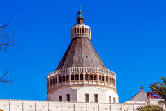 Annunciation Cathedral in Nazareth Stock Photo