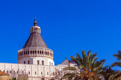 Annunciation Cathedral in Nazareth Stock Image