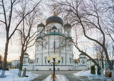 The Annunciation Cathedral - the temple of the Russian Orthodox Stock Photo