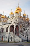 Annunciation church. Moscow Kremlin. Blue sky background. Royalty Free Stock Image