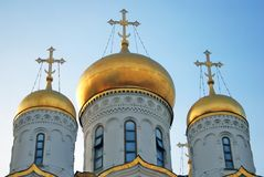 Annunciation church of Moscow Kremlin. Color photo. Stock Images