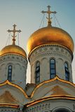 Annunciation church of Moscow Kremlin. Color photo. Royalty Free Stock Image
