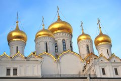 Annunciation church of Moscow Kremlin. Color photo. Stock Image