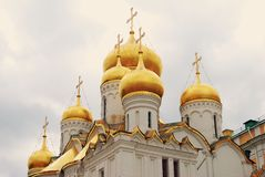 Annunciation church. Moscow Kremlin. UNESCO Heritage. Stock Image