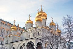 Annunciation church. Moscow Kremlin. UNESCO Heritage. Royalty Free Stock Photo