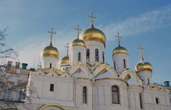 Annunciation church in Moscow Kremlin. UNESCO World Heritage Sit Royalty Free Stock Images