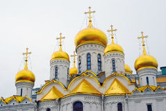 Annunciation church. Moscow Kremlin. UNESCO World Heritage Site. Royalty Free Stock Photo