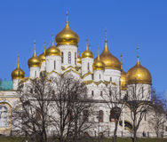 Annunciation and the Dormition Cathedral of the Moscow Kremlin. Royalty Free Stock Photo