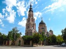 Annunciation katedra jest głównym Ortodoksalnym kościół Kharkov fotografia stock
