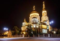 Annunciation katedra w nocy zdjęcia royalty free