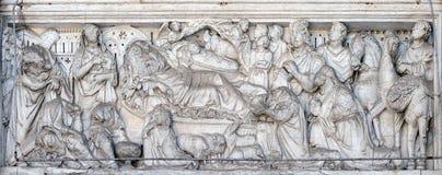 Annunciation, Nativity και λατρεία του MagiAnnunciation, Nativity και λατρεία των μάγων Στοκ Εικόνες