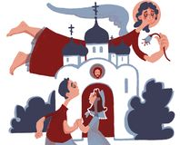 annunciation niedziela rodzina Kościół ilustracja wektor
