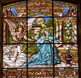 Annunciation Stained Glass Old Basilica Guadalupw Mexico City Mexico Stock Photo