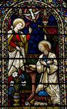The Annunciation in stained glass Stock Photos