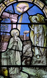 The Annunciation in stained glass. A photo of The Annunciation in stained glass Stock Photography