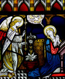 Annunciation in stained glass Stock Photos