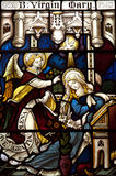Annunciation in stained glass Stock Photography