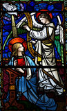 Annunciation. Stained glass window the annunciation Royalty Free Stock Images