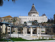 annunciationbasilica israel nazareth Arkivbilder