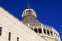 annunciationbasilica nazareth arkivbilder