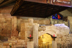 annunciationbasilica nazareth Arkivbild