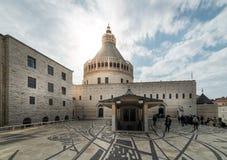 annunciationbasilica nazareth fotografering för bildbyråer