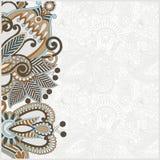 Annuncio decorato della scheda Fotografie Stock