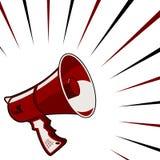 Annuncio del megafono Immagine Stock Libera da Diritti