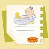 Annuncio dell'acquazzone di bambino Fotografie Stock