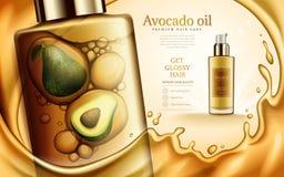 Annuncio dell'olio di avocado illustrazione vettoriale