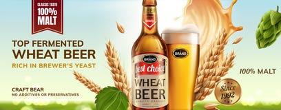 Annuncio di rinfresco della birra del grano royalty illustrazione gratis